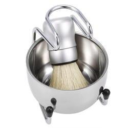 Хорошо отполированная 3 в 1 барсук для волос Мужская щетка для бритья подставка для лотков держатель для лица Чистящая бритва инструмент