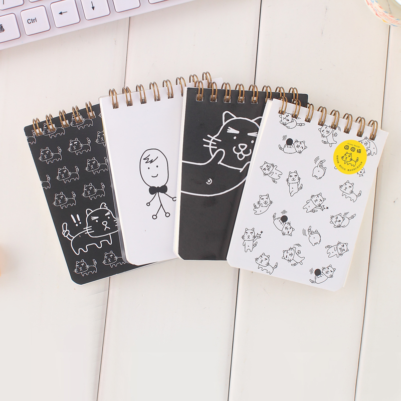 Hot Sale Korea Creative Stationery Notebook Office Supplies School Notepads with Mini Coil Free Shipping