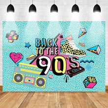 Mehofoto Back to the 90s Theme Party Photography Backdrops Photo Studio Music Recorder Background Shoes Green Backdrop