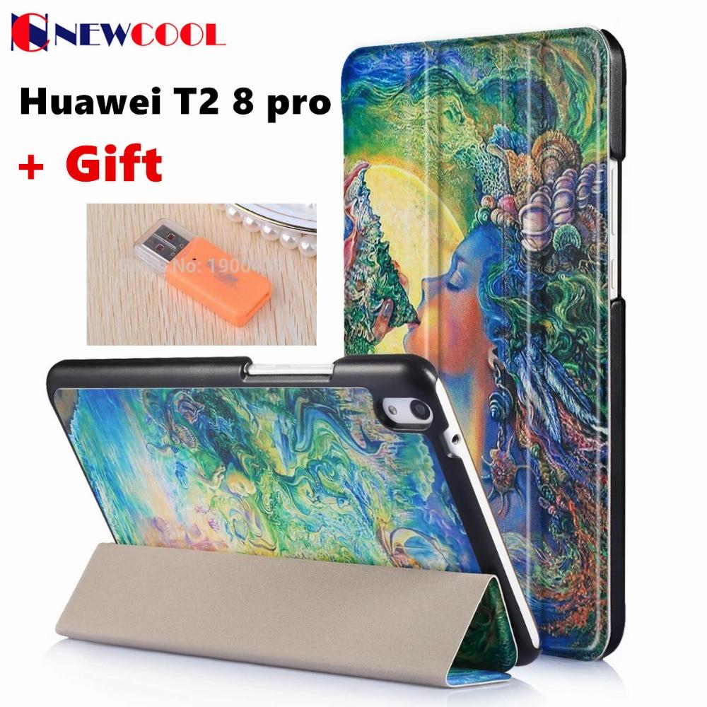 FT2 8 Pro Magnet Flip Cover For Huawei Mediapad T2 8 Pro JDN-AL00 JDN-W09 Tablet Case Smart Cover Protective shell