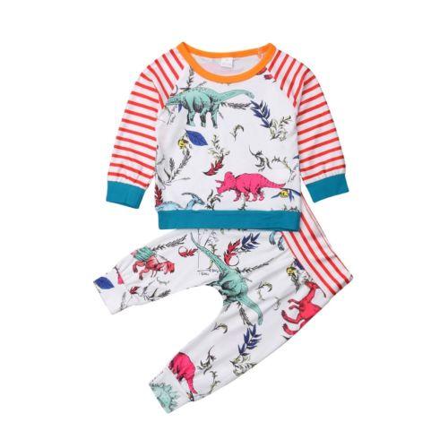 2 Stücke Infant Kleinkind Kinder Baby Jungen Outfits Set Kleidung T-shirts Tops + Lange Hosen