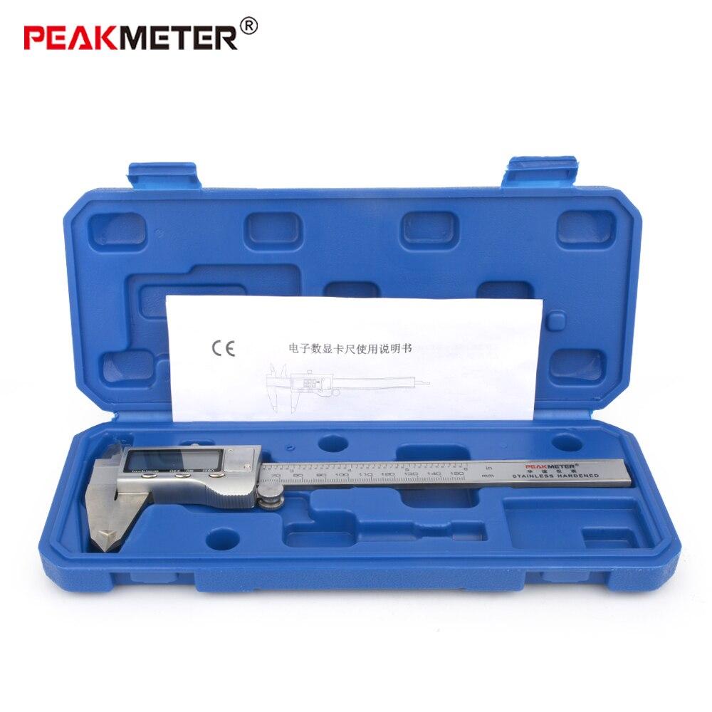 Calibrador digital de acero inoxidable, calibrador digital de 150mm, calibrador digital vernier, herramienta de medición de micrómetro electrónico