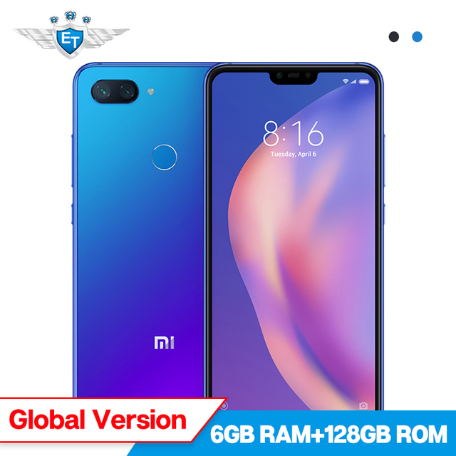 Global Version Xiaomi Mi 8 Lite 6GB 128GB Snapdragon 660 6.26'' Full Screen Mobile Phone 24MP Front Camera Dual Rear Camera
