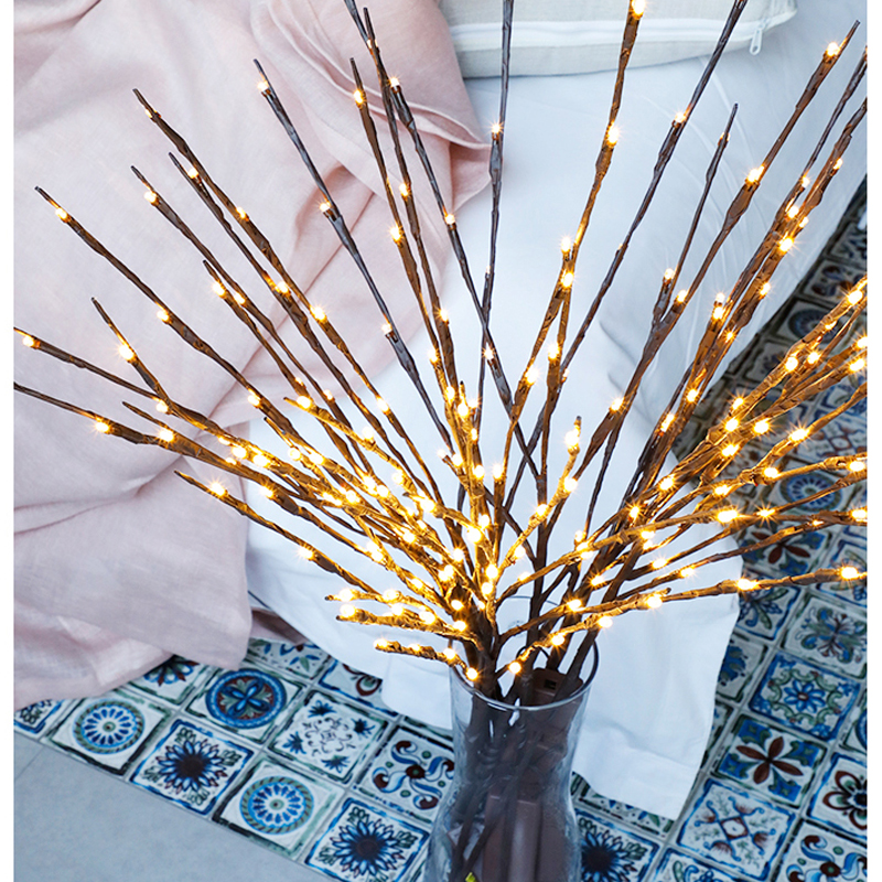 2018 New Modern Branch Lamp Floral Light 20LED AA Battery Powered Willow Branch Fairy Light Vase Coffe Bar Wedding Holiday Decor (19)