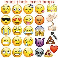 Emoji Photo Booth Props 27pcs Set Funny Wedding Party Photography Props Smiling Face