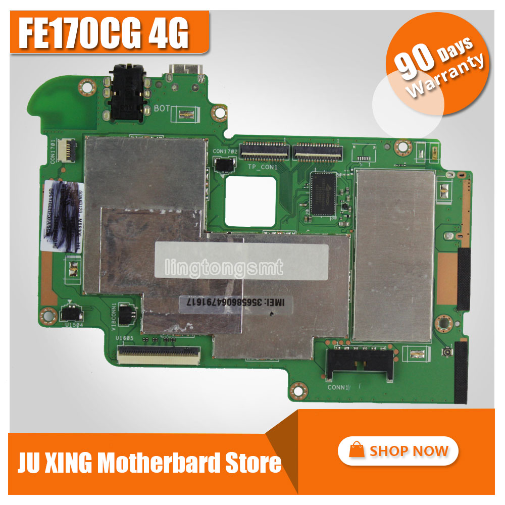 цена на For Asus FE170CG Tablet PC motherboards FonePad 7 FE170CG 4GB Mobile phone New ultra-stable Logic board System Board Tested OK