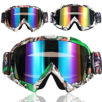 BSDDP Motocross gogle Cross Country narty Snowboard ATV maska óculos Gafas Motocross kask motocyklowy gogle MX okulary tanie i dobre opinie Riding Tribe CN (pochodzenie) Jeden rozmiar Kobiety Mężczyźni Unisex MULTI Jasne