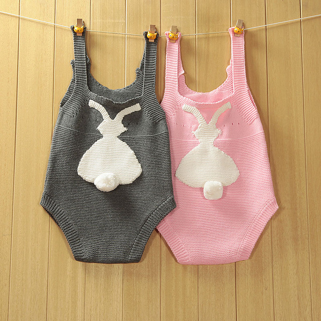 Baby Wool Rabbit Pink Bodysuit Sweater Boys Girl clothing ropa bebes mameluco jumpsuit disfraz navidad bebe barboteuse