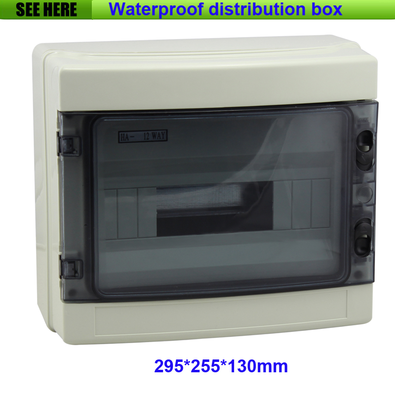 Project Box Plastic Electronic Enclosure Custom ABS Plastic Enclosure Power Distribution Box 295*255*130mm white plastic cuboid 2 4 way power distribution box guard cover