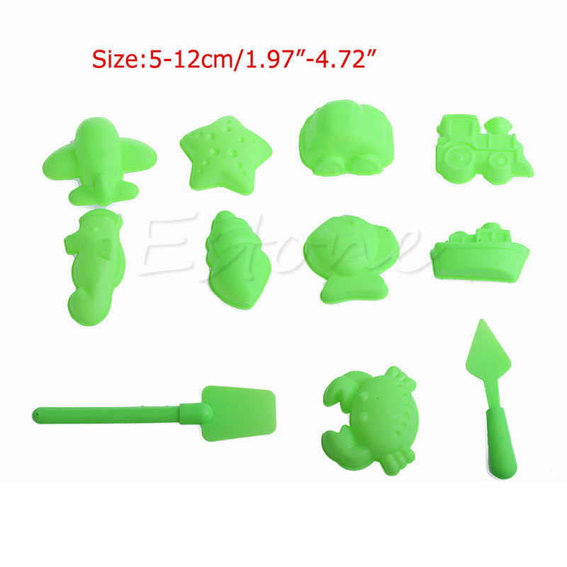 5-11Pcs/Lot Sand Toy Model Building Kits Play Dough Plasticine Mold Tools Set Kids Playdough Polymer Clay funny Beach Toy