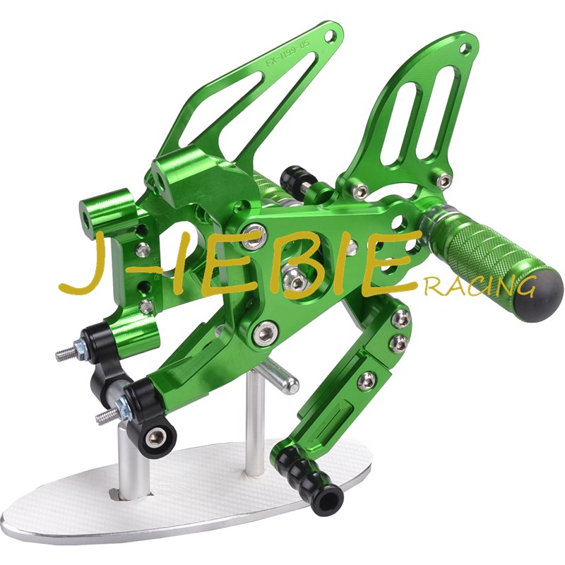 CNC Racing Rearset Adjustable Rear Sets Foot pegs Fit For Ducati 899 959 1199 1299 Panigale 2012 2013 2014 2015 2016 GREEN
