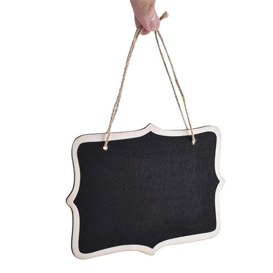 2017 Nieuwe 12 Stks Mini Multi Blackboard Houten Bord Bericht Tafel Nummer Bruiloft Decor Opknoping Decoraties Producten Hot Sale