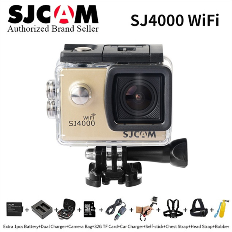 SJCAM SJ4000 wifi Action Camera Diving 30M Waterproof 1080P Full HD Mini Helmet Camcorder 2.0 LCD Screen Sport DV Car DVR CAM sj4000 wifi full hd 1080p camera sport 2 0 lcd sj 4000 helmet cam go waterproof camera pro style sport dv mini camera sport