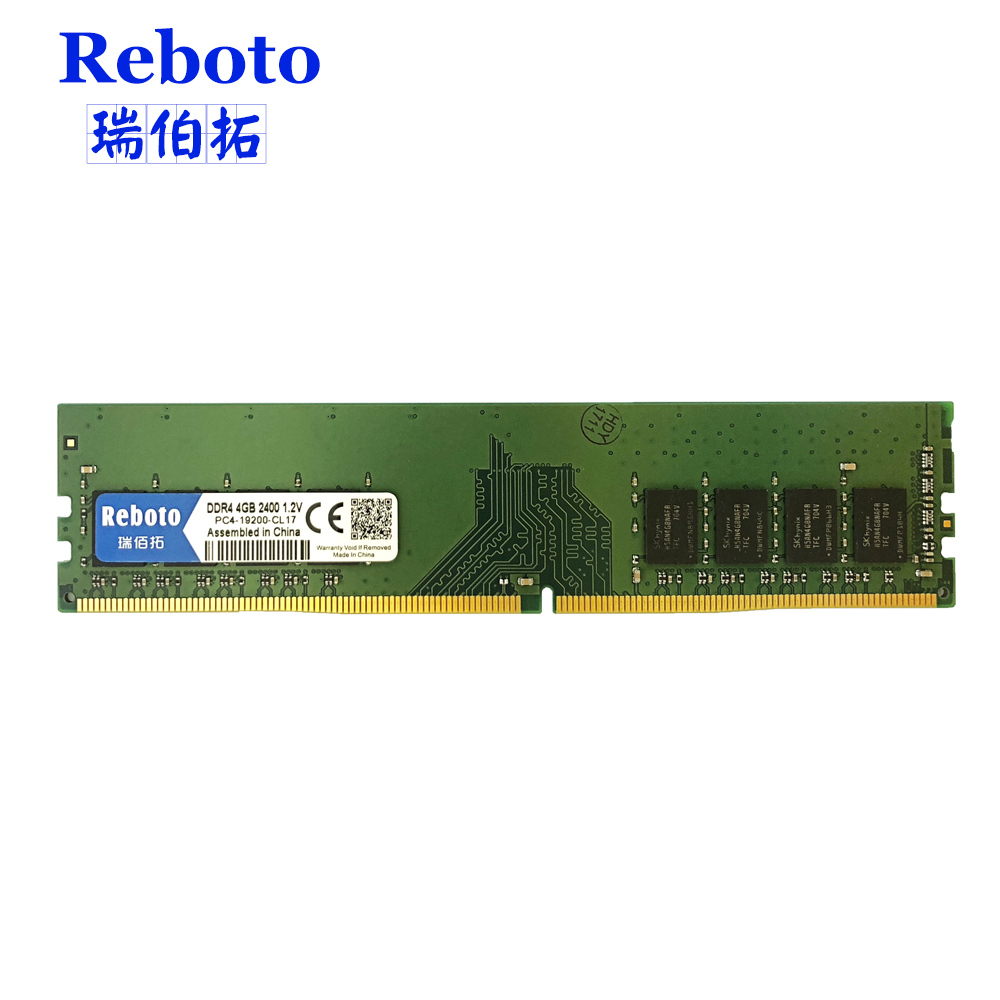 Reboto DDR4 4GB 2400MHz DIMM Desktop Memory  PC4-19200-CL17 Desktop ram 1.2v voltage модуль памяти patriot memory ddr4 so dimm 2400mhz pc4 19200 cl17 4gb psd44g240041s