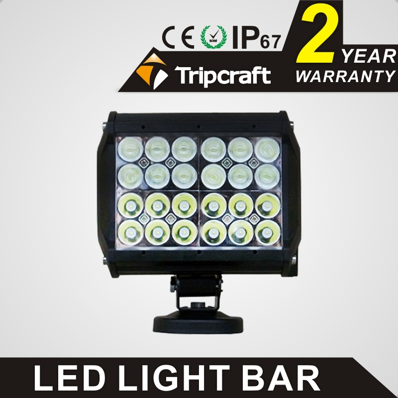 CE RoHs IP67 certification 72watt offroad led spot light bar rohs