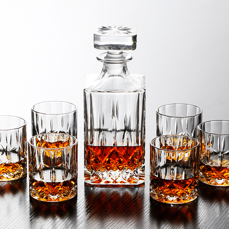 Top-grand Crystal Wine Cup Set High-quality Brandy Wiskey Pint Wine Glasses Whiskey Cup Sparkling Wine Cooler image