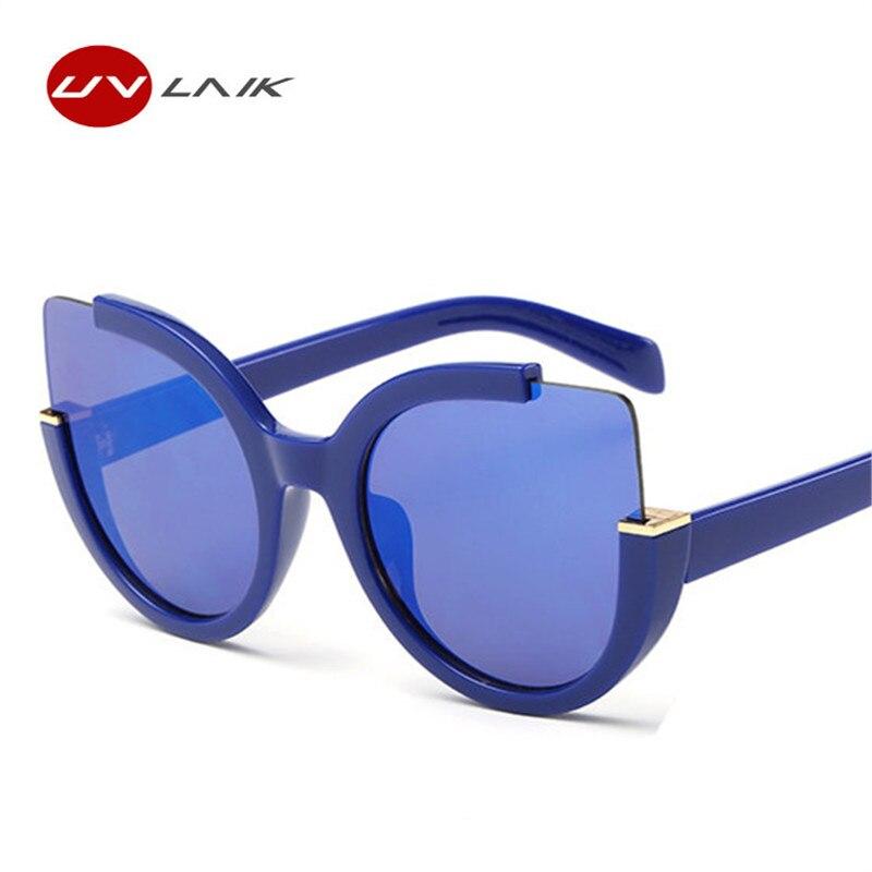 UVLAIK de ojo de gato gafas de sol mujer marca diseñador gafas Vintage de conducción de moda gafas de sol para las mujeres de ojo de gato gafas de UV400