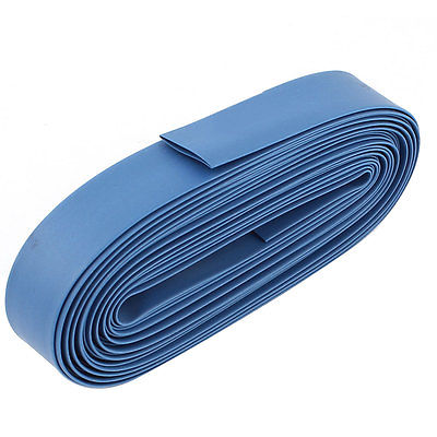 Blue 12mm Dia Polyolefin 2:1 Heat Shrink Tubing Wire Wrap Cable Sleeve 10M retardant heat shrink tubing shrinkable tube diameter cables 120 roll sale