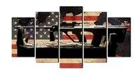 Moda Da bandeira Americana fundo arma cartaz da lona pintura de parede arte decoração para sala de estar não emoldurado