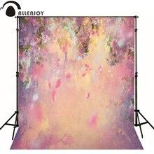 Allenjoy фоны для фотосъемки, розовые лепестки, цветочная живопись, Фотофон для новорожденного ребенка, милая Фотостудия