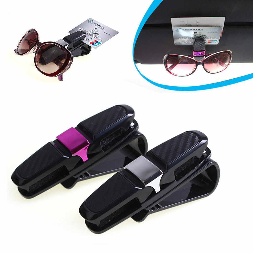 2019 New Car Auto Sun Visor Clip Holder For Reading Glasses Sunglasses Eyeglass Card Pen Clip Automotive Car Styling Accessories