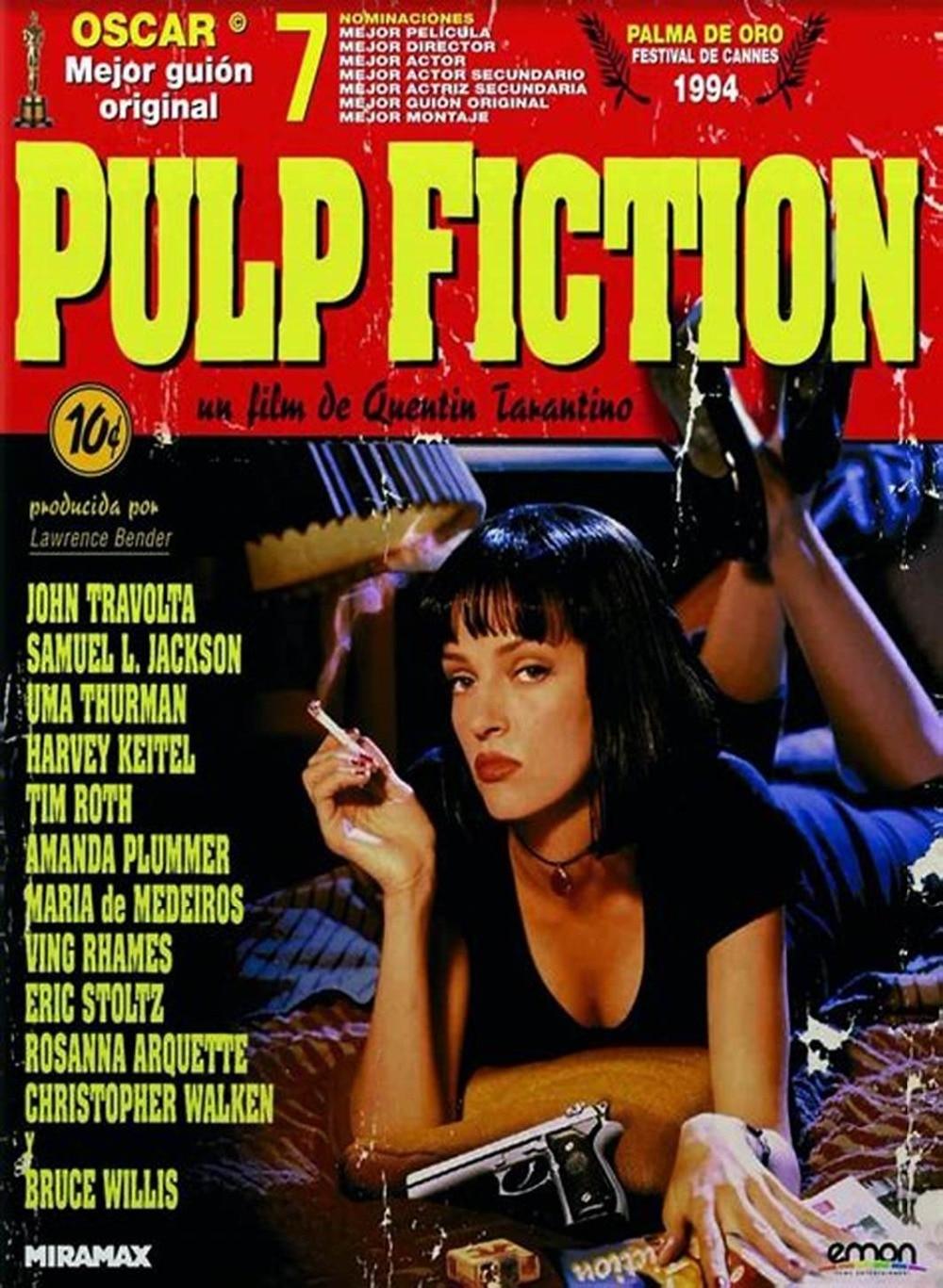 Pulp Fiction Vintage Movie Art Silk Canvas Poster Print 20x20 ...