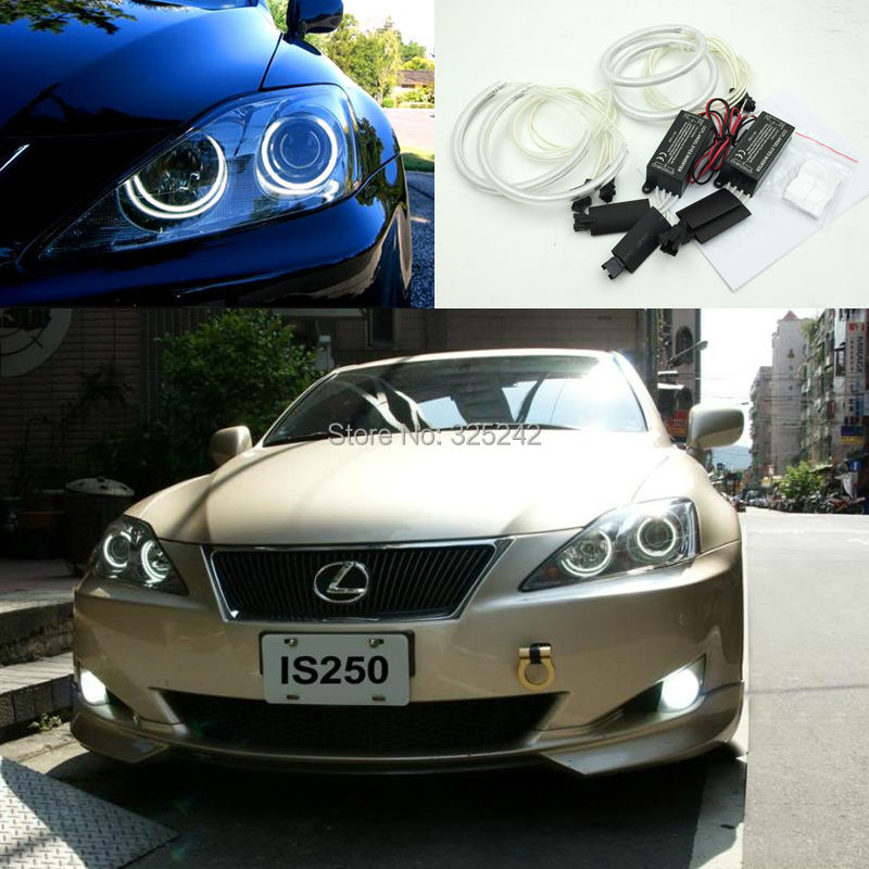 ФОТО For Lexus IS220 IS250 IS350 IS-F 2006 2007 2008 2009 2010 Excellent CCFL Angel Eyes kit Ultrabright illumination ccfl Halo Ring