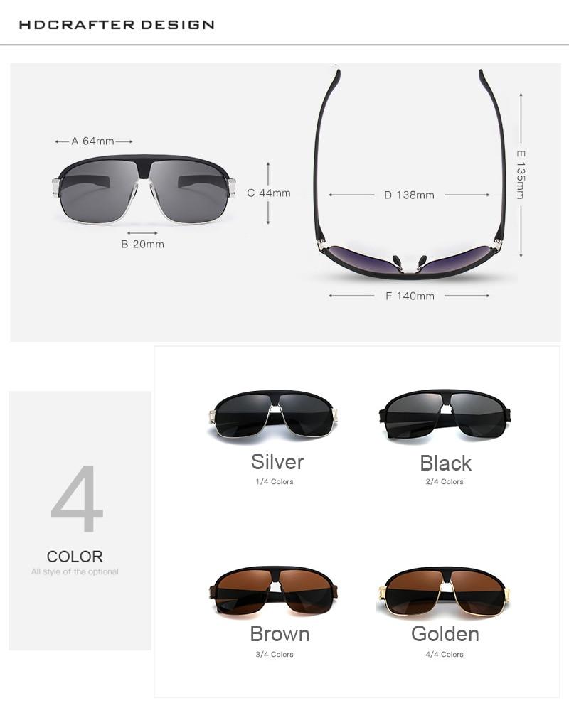 Mode Herr Polariserade Solglasögon för män Vintage Uv400 - Kläder tillbehör - Foto 4