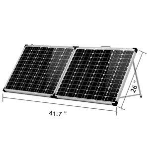 Image 1 - Dokio 100W 접이식 태양 전지 패널 12V 18V 태양 전지 셀/모듈/시스템 충전기 컨트롤러 태양 전지 패널 키트 ru에서 우주선