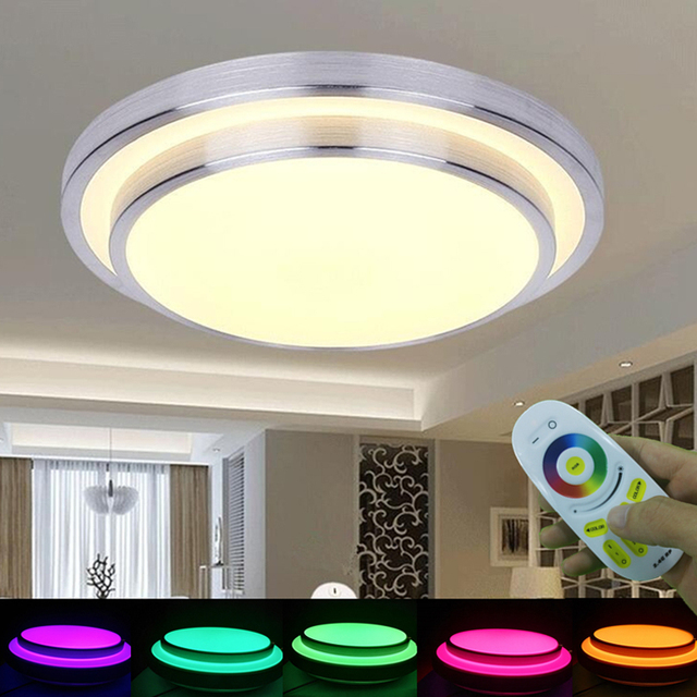 KINLAMS LED Ceiling Light 2.4G Wireless Remote Touch Control AC165-265V 12W 24W 36W SMD5730 RGB 5050 Colorful Dimming Lights