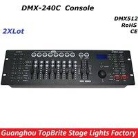 2 xlot заводская цена DMX240 консоли DMX 512 контроллер 192 Каналы Профессиональный DJ контроллер Дискотека оборудования светодиодные огни этапе