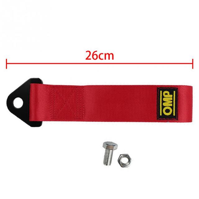 26cm Towing Rope High Strength Nylon trailer Tow Ropes Racing Car Universal Tow Eye Strap Tow Strap Bumper Trailer