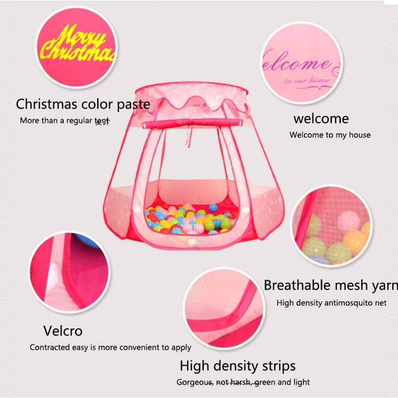 JISILI 2017 Pricess Toy Tents Children House Kids For Tent Indoor Outdoor Play Tent Folding Baby Tent Cute Ball Pool Pit