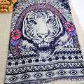 2017 Fashion Indian feather tiger head pattern in spring and summer modal cotton scarf lady ethnic style geometric scarf shawl