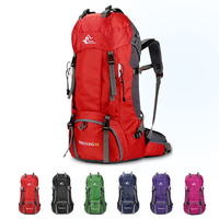 70L Waterproof Polyester Outdoor Sport Bag With Rain Cover Camping Hiking Trekking Backpack Travel Backpack Rucksack Sport Bag