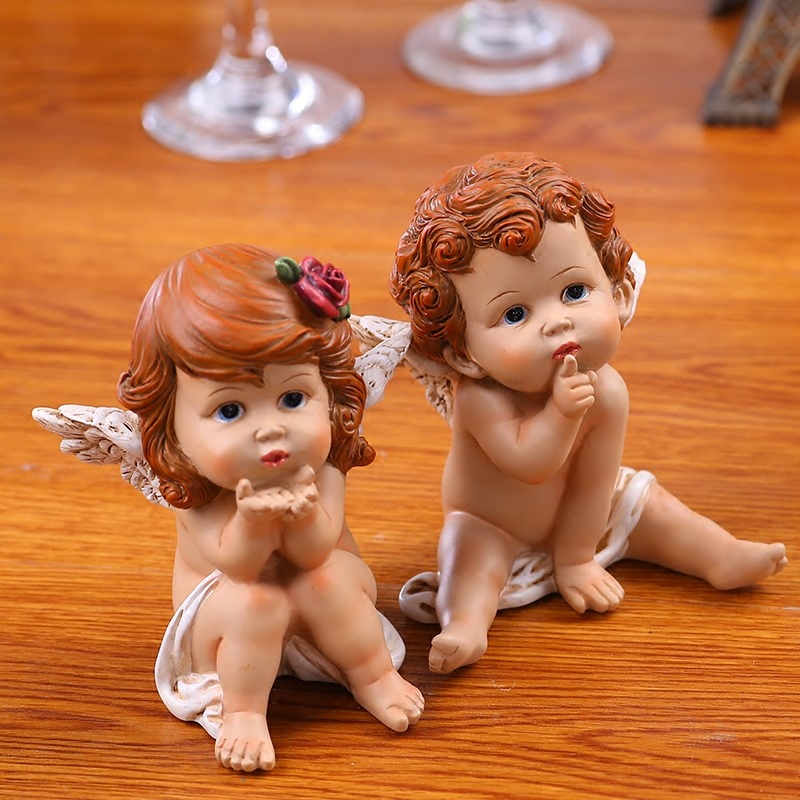 European Resin Crafts Little Angel Wedding Supplies TV Cabinet Decoration God Cupid Angel Wedding Gift