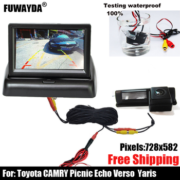 free shipping!!! CAR CCD SONY REAR VIEW REVERSE BACKUP CAMERA FOR Toyota CAMRY Picnic Echo Verso / Yaris (NCP93) image