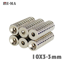 30Pcs Neodymium Magnet Ring 10x3mm With Hole 3mm Permanent N35 Small Round Super Strong Powerful Magnetic Magnets 10x3-3mm