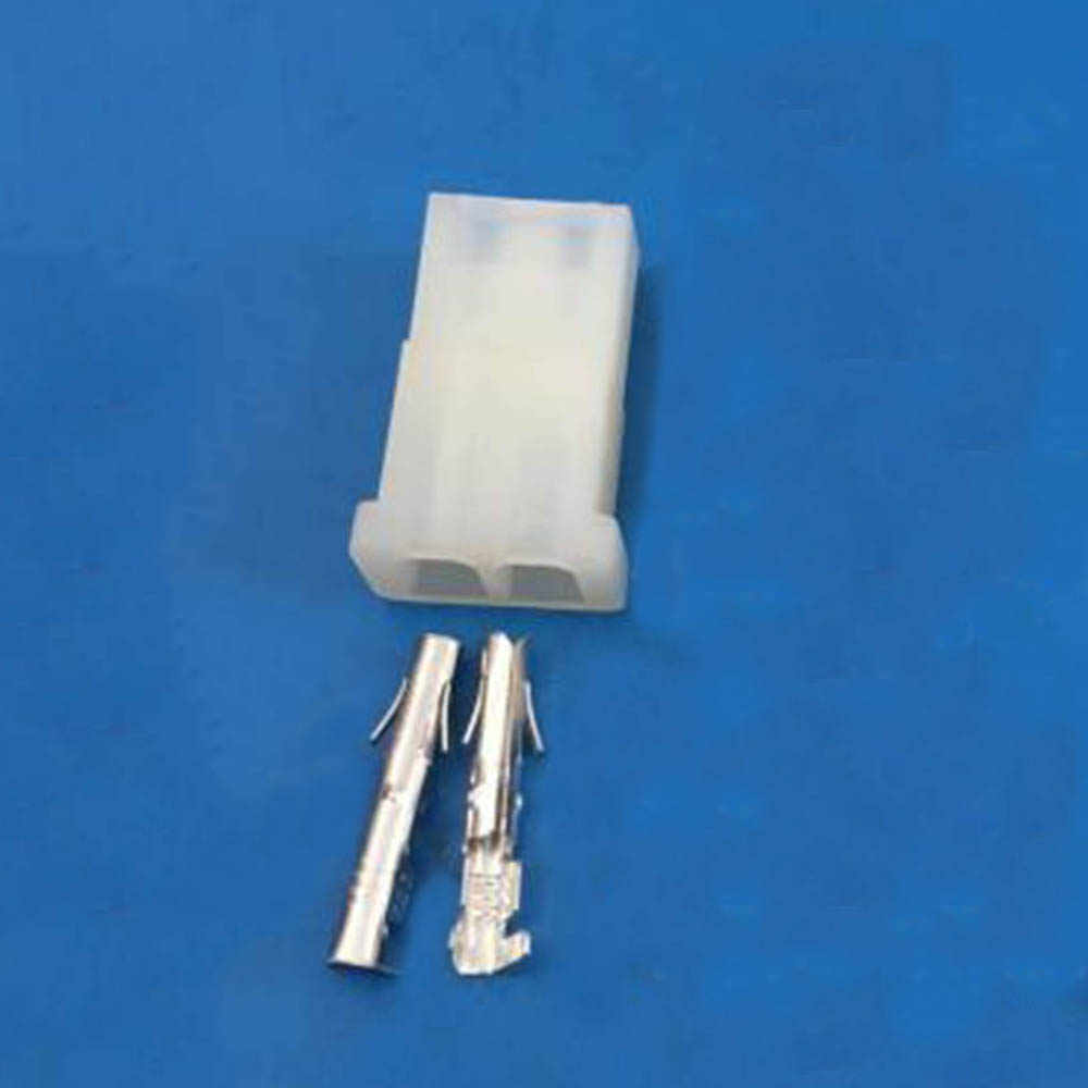 5 เซ็ต 5.08 มิลลิเมตร 2 สีขาวโปร่งใสไนลอนหญิง 8981 IDE Power Plug + Terminal สำหรับ 18-24AWG ลวด