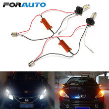 FORAUTO 2Pcs 1156 42 LEDs 2 In 1 Daytime Running Light Car Turn Signal Light High Quality Car-styling 12V LED Car DRL Auto Lamps(China)