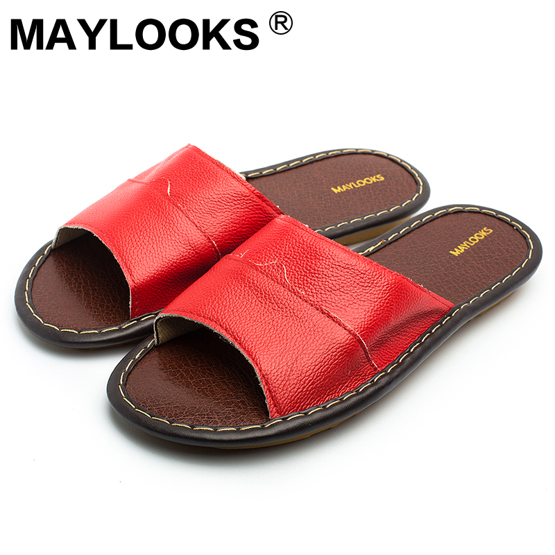 Ladies Slippers Spring And Summer Genuine Leather Home