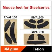 Pies de ratón TPFE para Steelseries RIVAL 95/100 300 700, deslizamiento de ratón de repuesto, 0,6mm de grosor, 2 juegos por paquete