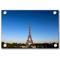 The Paris Famous Building Tower Custom Printed on Acrylic Wall Art From your Pictures/Photography For Home Decoration
