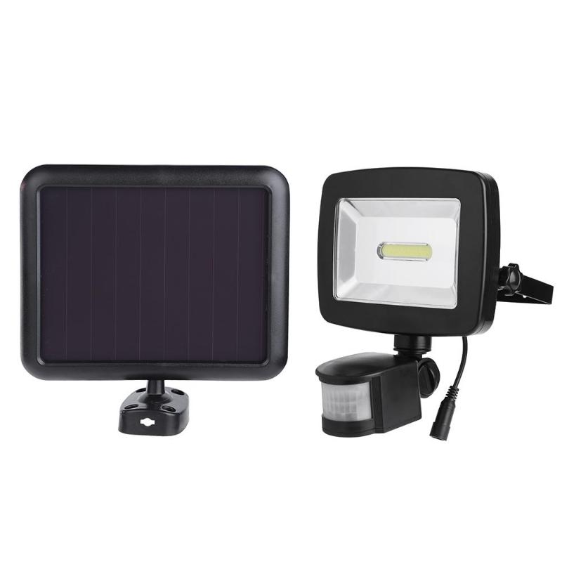 3W 350 lumens COB LED Solar Motion Light LED Flood Security Garden Light PIR Motion Sensor LED Solar Light Waterproof IP65
