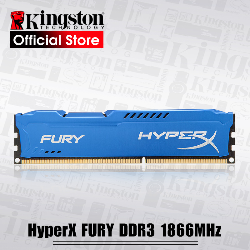 все цены на Kingston RAMS HyperX FURY Blue Series Memory desktop DDR3 240-Pin 1866MHz 8GB онлайн