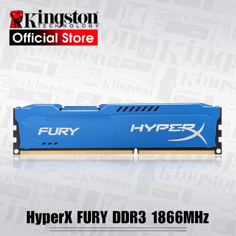 Kingston RAMS HyperX FURY, serie en azul memoria de escritorio DDR3 240-Pin 1866 MHz 8 GB