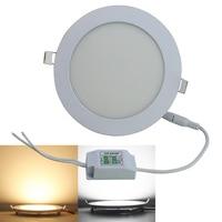 Ultra cienka kontrolki na Panelu LED downlight Ściemniania 6 W 9 W 12 W 15 W 18 W Okrągła Wpuszczana Sufitowa lampy AC 85-265 V