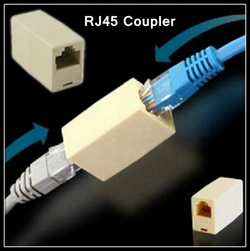 [ReadStar]100PCS/LOT RJ45 Coupler Network cable connector Female to Female cable extension Adapter Network through head reliable convenient usb 3 0 type a female to female plug adapter extension connector coupler