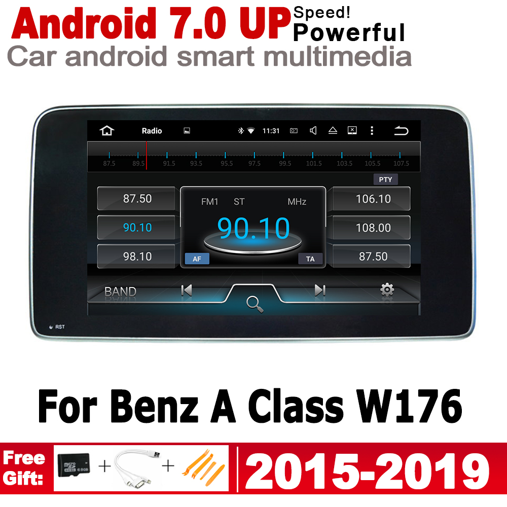 Android 7.0 up Car radio GPS For <font><b>Mercedes</b></font> Benz A Class <font><b>W176</b></font> 2015~2019 NTG multimedia player <font><b>Navigation</b></font> WiFi BT HD Screen Stereo image
