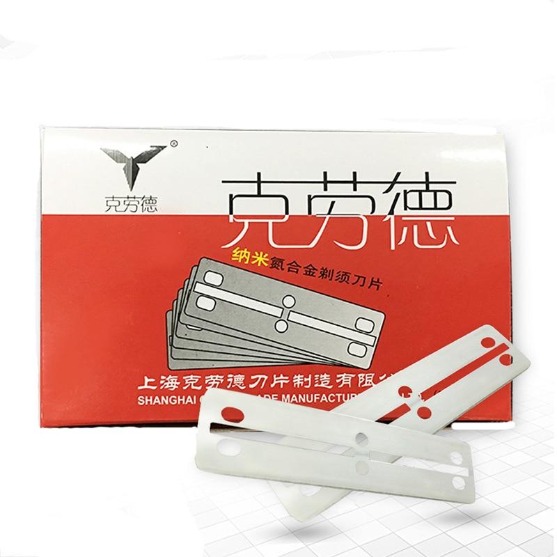 100pcs Engraved Pen Blades Hairdressing Supplies Narrow Version Of Claude A Double Blade Razor Blade Razor Blade Shaving Eyebrow